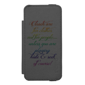 Hide and Seek Rainbow Quote iPhone 5S Case