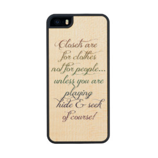 Hide and Seek Rainbow Quote iPhone 5S Case Carved® Maple iPhone 5 Slim Case