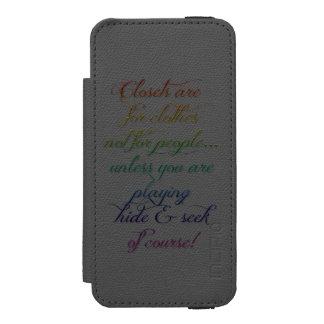 Hide and Seek Rainbow Quote iPhone 5S Case Incipio Watson™ iPhone 5 Wallet Case