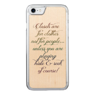 Hide and Seek Rainbow Quote iPhone 6 Carved iPhone 7 Case
