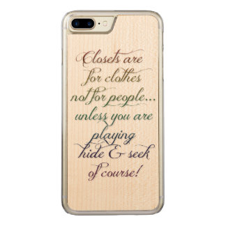 Hide and Seek Rainbow Quote iPhone 6 Plus Carved iPhone 7 Plus Case