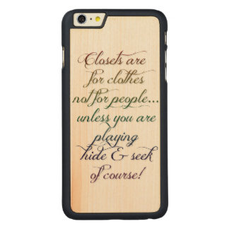 Hide and Seek Rainbow Quote iPhone 6 Plus Case Carved® Maple iPhone 6 Plus Case