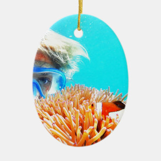 hide and seek with NEMO.JPG Ceramic Ornament
