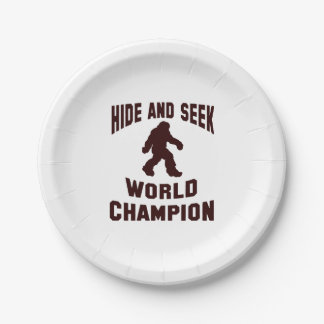 Hide and seek world champion bigfoot paper plates