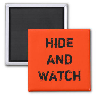 Hide and Watch 2 Inch Square Magnet