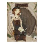 Hide Away - Fairy pirate postcard
