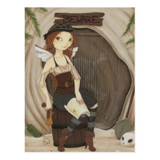 Hide Away - Fairy pirate postcard