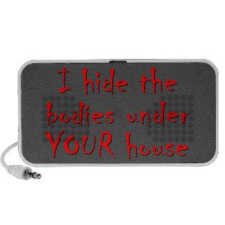 HIDE BODIES UNDER YOUR HOUSE NOTEBOOK SPEAKER