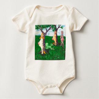Hide n' Seek Cows Baby Bodysuit