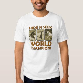 Hide N Seek World Champions Funny Tshirt Wht