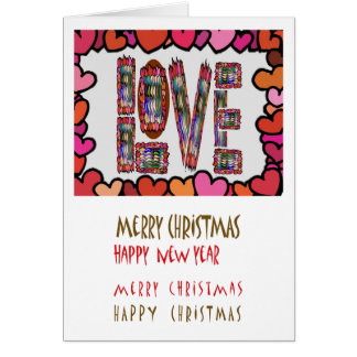 Hide nothing in love : Merry Christmas NewYear Card