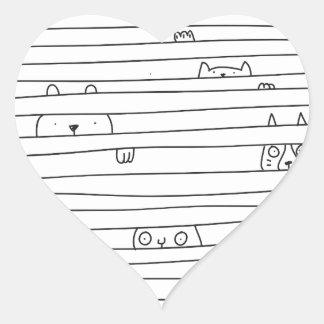 Hide & Seek Heart Sticker