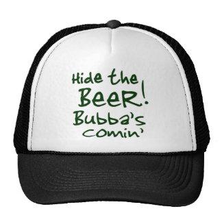 Hide the Beer Bubba's Comin' Caps Hat