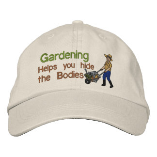 Hide the Bodies Embroidered Baseball Cap