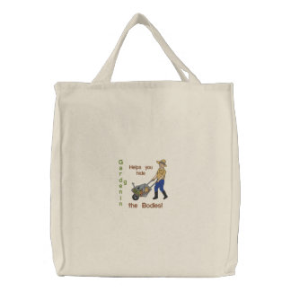 Hide the Bodies Embroidered Tote Bag