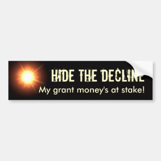 Hide the Decline Bumper Sticker
