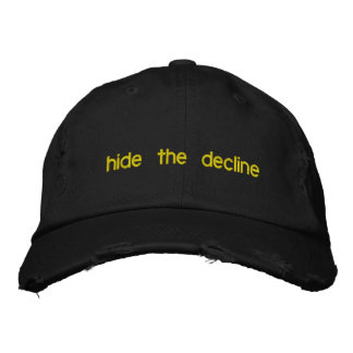 hide the decline embroidered baseball cap
