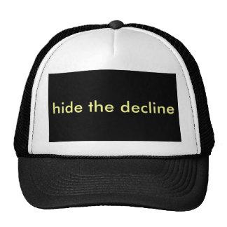 hide the decline trucker hat