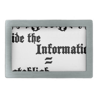 Hide The Information Establish Education Belt Buckle
