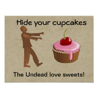 Hide your cupcakes posters