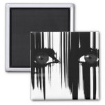 Hiding Behind The Pain 2 Inch Square Magnet