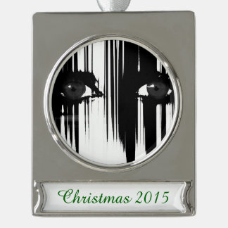 Hiding Behind the Pain Silver Plated Banner Ornament