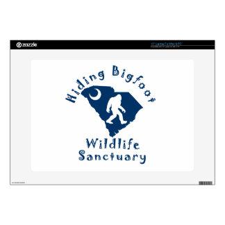 Hiding Bigfoot Wildlife Sanctuary Laptop Skin