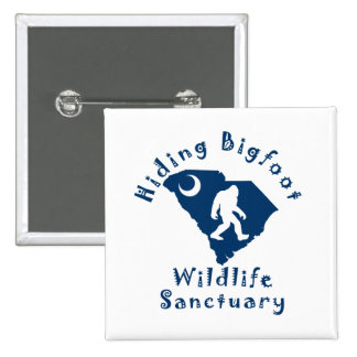 Hiding Bigfoot Wildlife Sanctuary Square Button