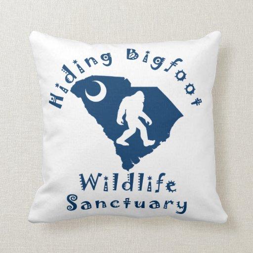 Throw Pillows With Wildlife : Hiding Bigfoot Wildlife Sanctuary Throw Pillow Zazzle