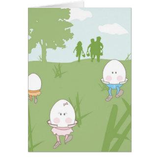 Hiding Eggs Easter Card