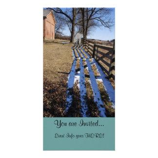 """Hiding from Spring"" - Custom Invitation Cards NEW Photo Card"