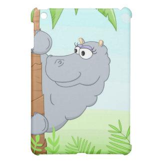 Hiding hippo iPad mini cover