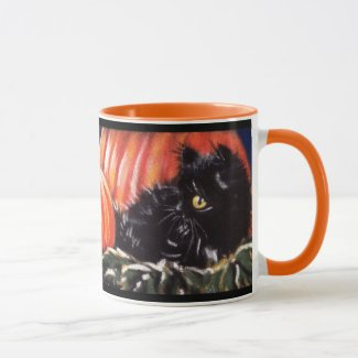 Hiding In Pumpkins Scaredy Cat Mug