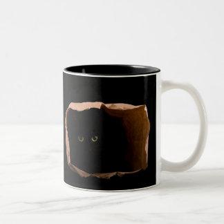 Hiding in Shadows Two-Tone Coffee Mug