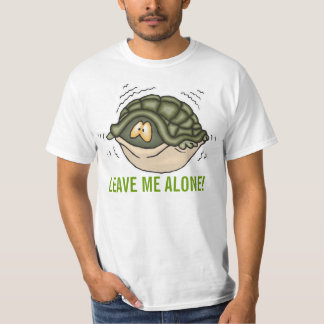 hiding in shell in turtle leave me alone T-Shirt