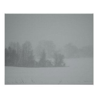 Hiding in the Blizzard Poster