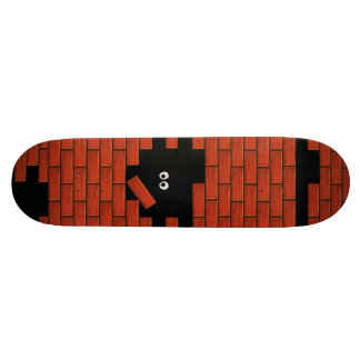 Hiding in the Dark Brick Wall Funny Cartoon deck Skate Board Deck