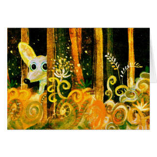 hiding in the forest greeting card