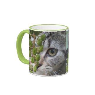 Hiding Kitten Mug Mug