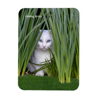 Hiding Kitten Rectangular Photo Magnet
