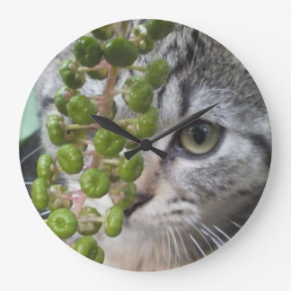 Hiding Kitten Wall Clock