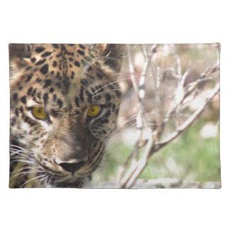 Hiding Leopard Cloth Placemat