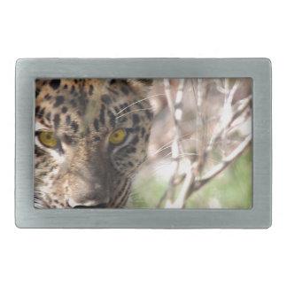 Hiding Leopard Rectangular Belt Buckle