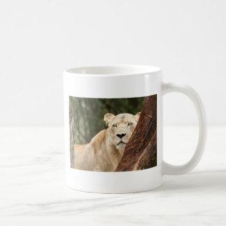 Hiding Lioness Classic White Coffee Mug
