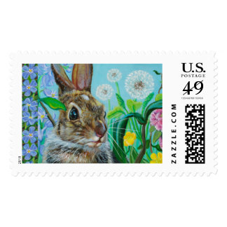 """Hiding Places"" Bunny Stamp by Kathi Dugan"