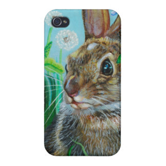 """Hiding Places"" Rabbit IPhone4  by Kathi Dugan iPhone 4 Case"