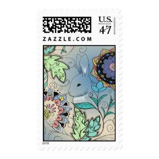 Hiding Rabbit Stamp