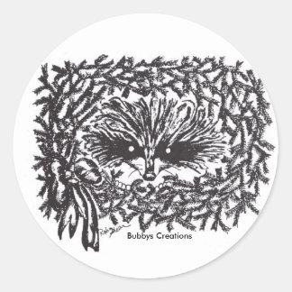 Hiding Raccoon Classic Round Sticker