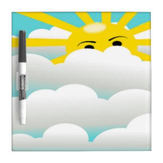 HIDING SUN DRY ERASE BOARD