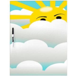 HIDING SUN Dry-Erase BOARD
